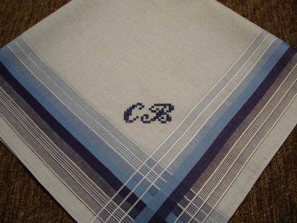 Вышивка на носовом платке