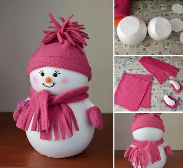 Новогодний снеговик своими руками в садик
