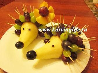 Что можно сделать из овощей какую поделку в садик