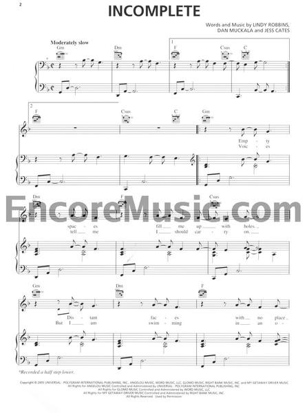 Page 1 / 6 incomplete free sheet music by backstreet boys pianoshelf
