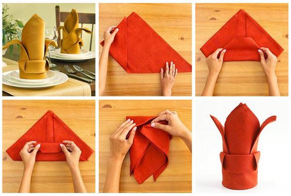 Как из салфетки сделать красивое для стола