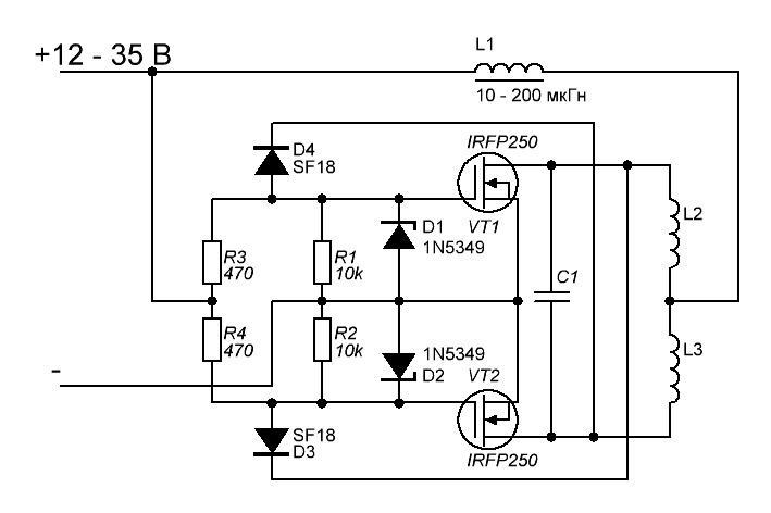 Схема индукционной печи на транзисторах фото 227