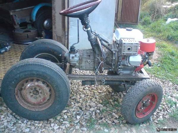 Маленькие самодельные трактора