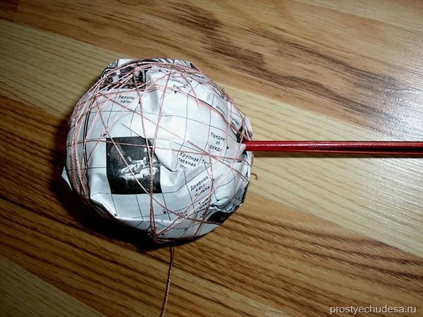 Как сделать круглый шар из бумаги своими руками