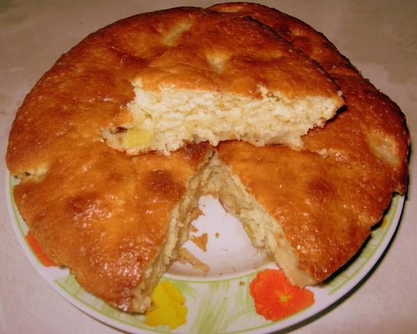 Пирог на сметане на скорую руку