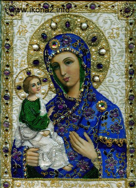 Икона божией матери иерусалимская вышивка 48