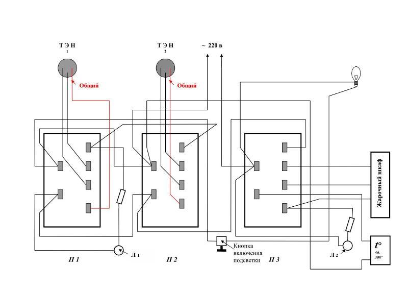 схема электрическая плиты мечта 12-03