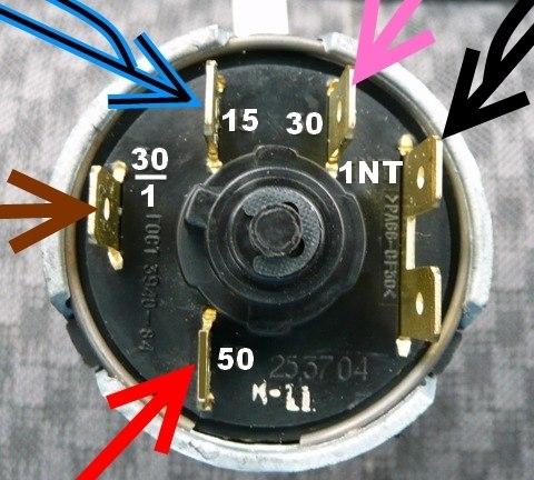 Схема проводов замка зажигания ваз 2106 фото