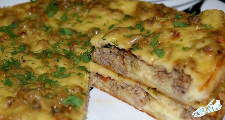 Рецепт с фаршем картофелем