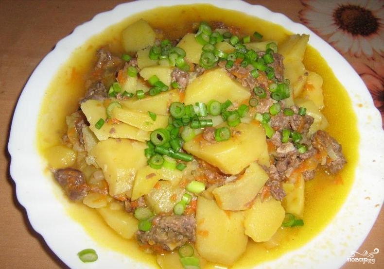 Рецепт тушеной картошки с тушенкой в мультиварке с пошагово