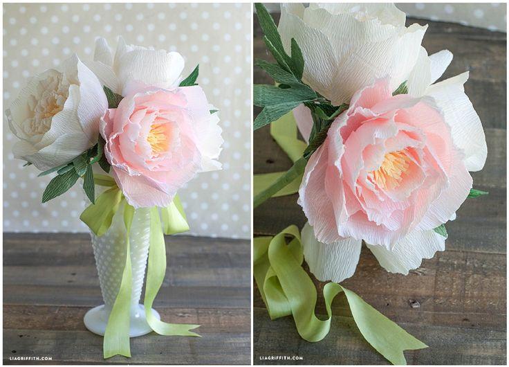 Мастер класс цветы из гофрированной бумаги фото