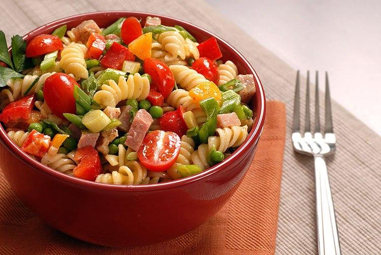 Фото рецепты салат с макаронами и ветчиной рецепт
