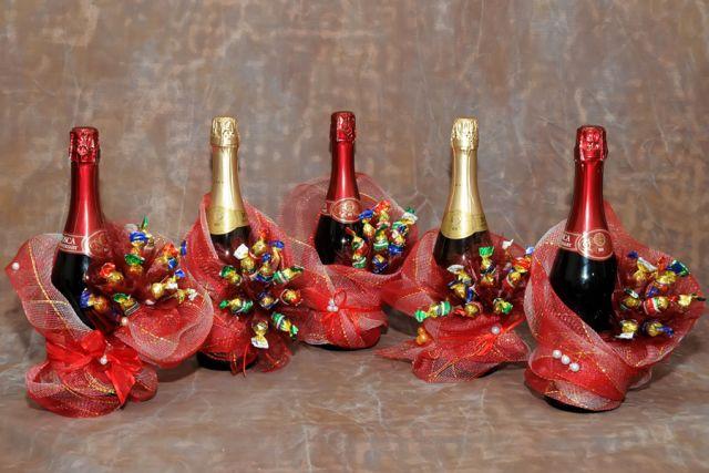 Шампанское с конфет своими руками