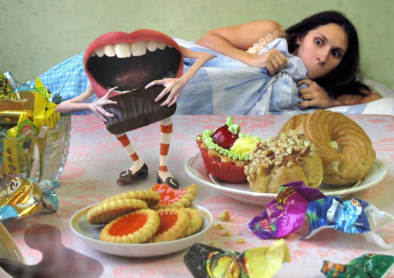 Сниться много сладкого