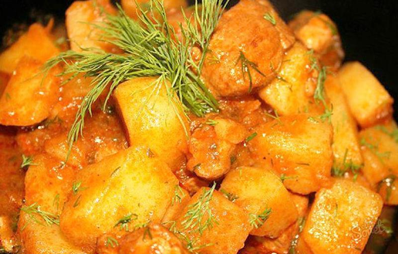 Тушёная картошка в мультиварке рецепты с фото пошагово