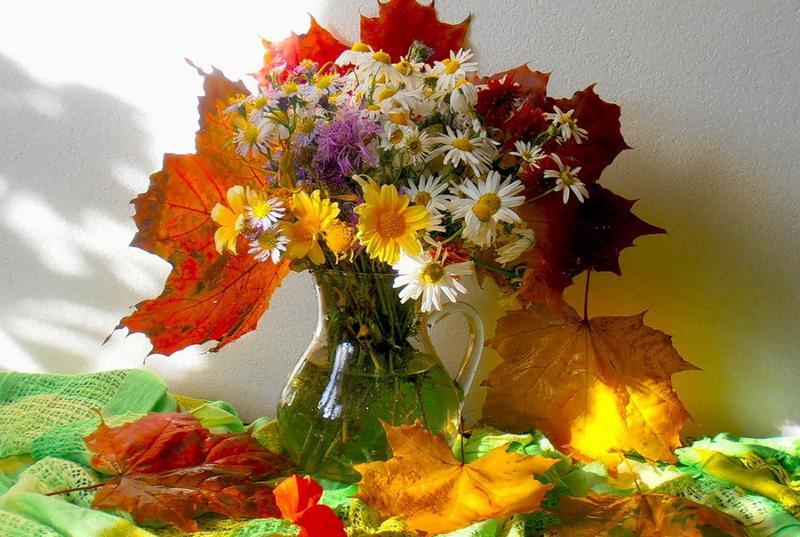 Осенний букет для открытки