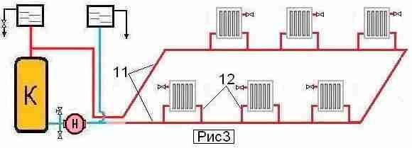 Схема отопления одноэтажного дома фото