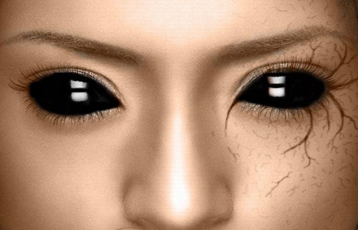 Как сделать глаза чисто белыми