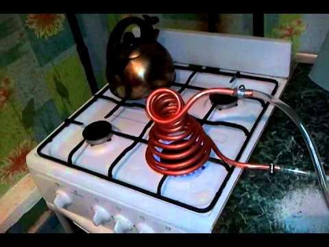Отопление из газовой плиты своими руками