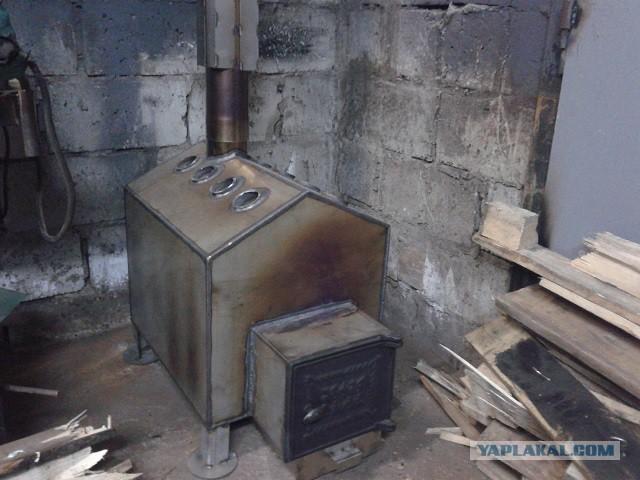 Как сделать печь в гараж своими руками из металла