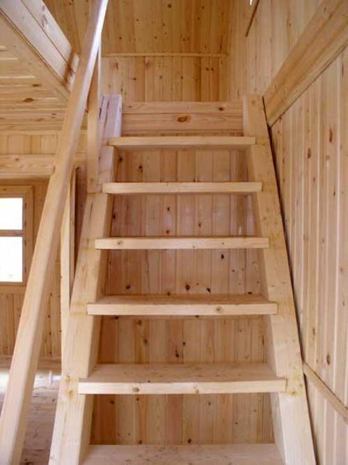 Простые деревянные лестницы на второй этаж своими руками