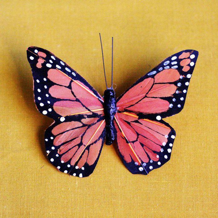 Как сделать своими руками из перьев бабочку