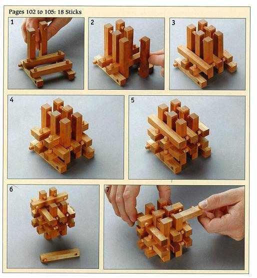 Из дерева головоломки своими руками