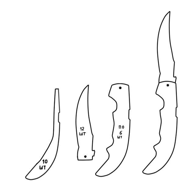 Как сделать нож фальшион из кс го из дерева