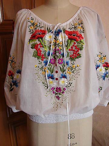 Украинская вышивка на одежду