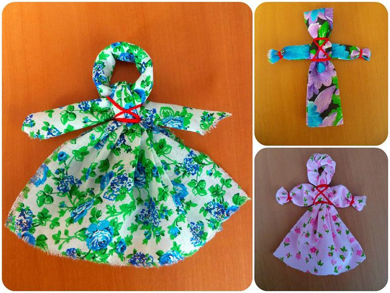 Простые куклы с детьми своими руками