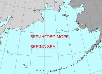 Где находится берингово моря