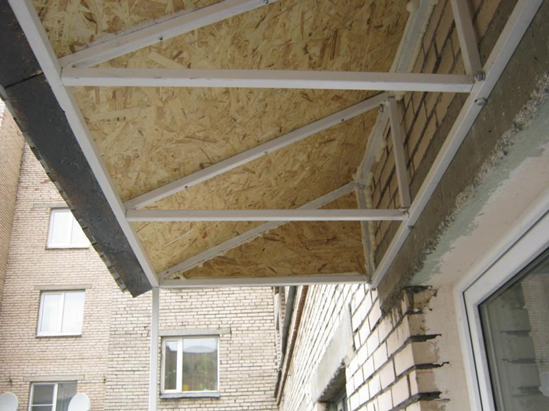Как правильно сделать крышу балкон