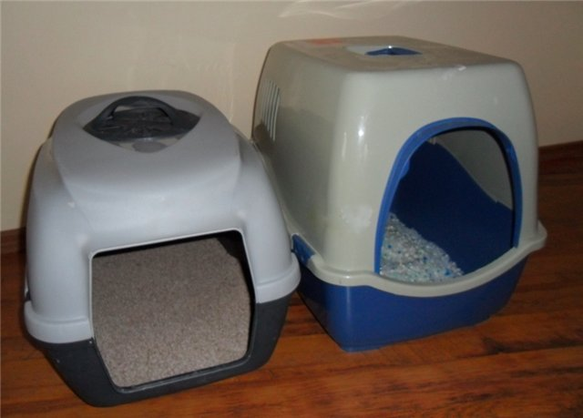 Закрытые кошачьи туалеты