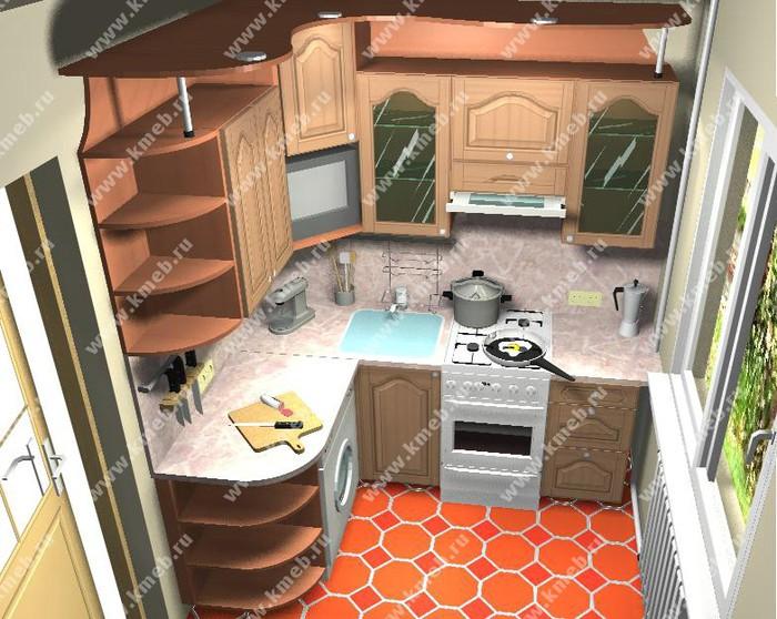 Как сделать больше места в маленькой кухне
