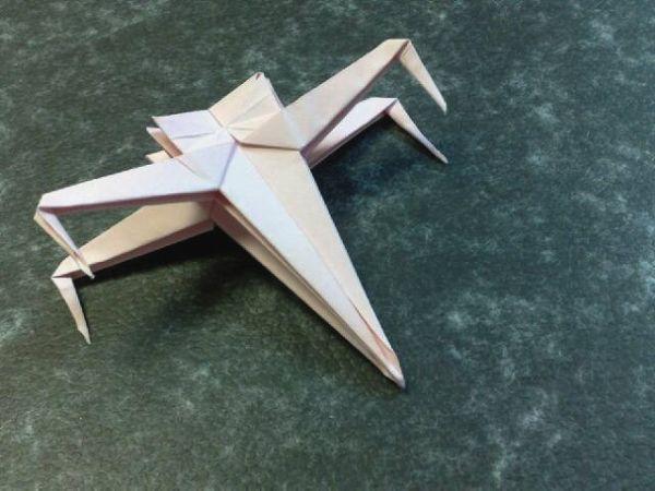 Как сделать космический корабль из бумаги видео