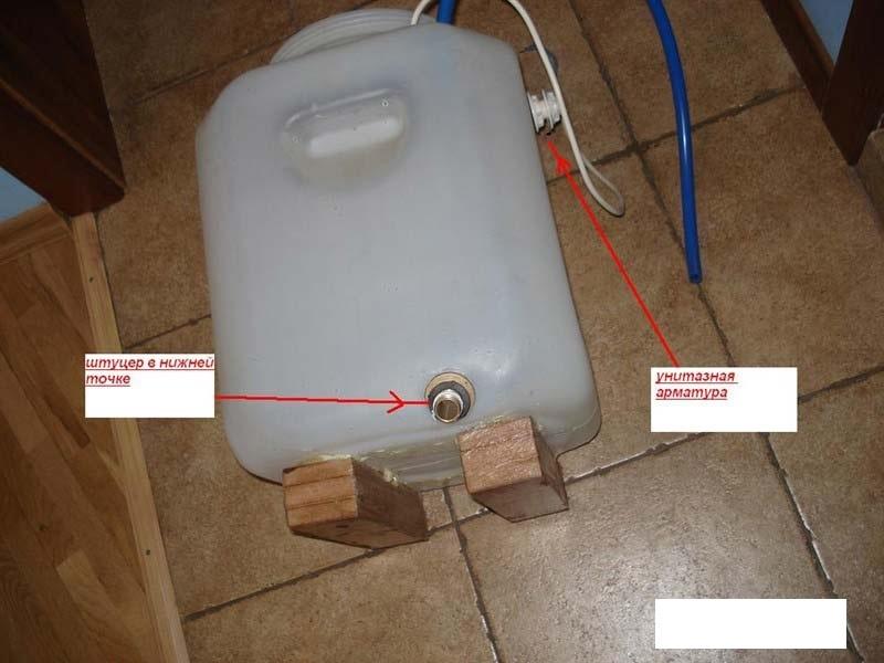 Расширительные баки для систем отопления своими руками