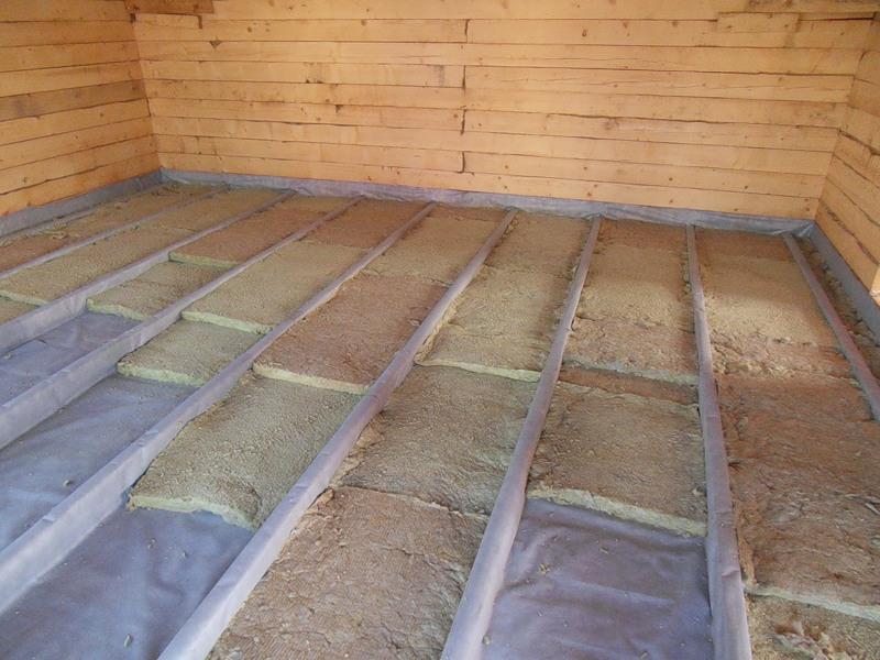 Утеплить деревянный пол в