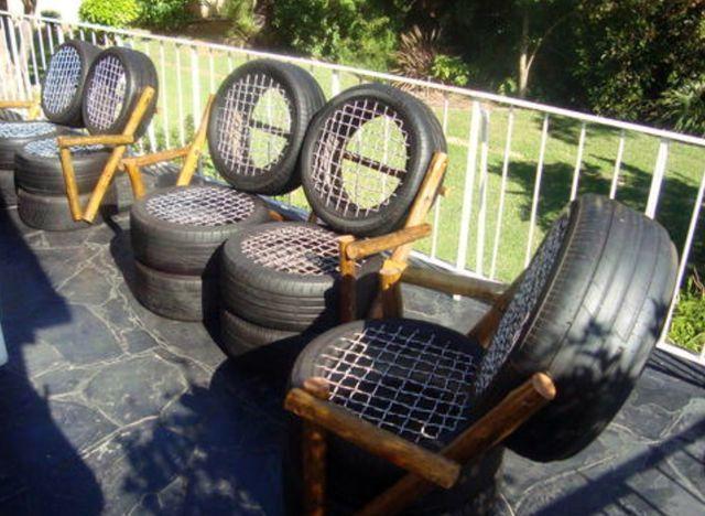 Как сделать с покрышки стул 445