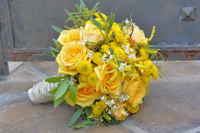 Букеты из желтых цветов