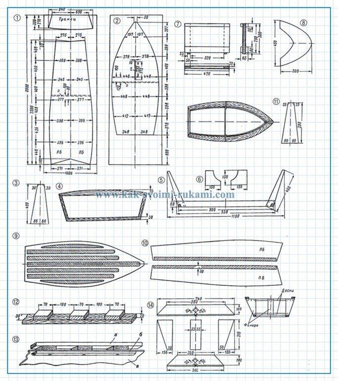 Чертежи самодельные лодки под мотор