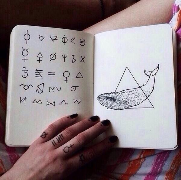Рисунок в блокноте символами