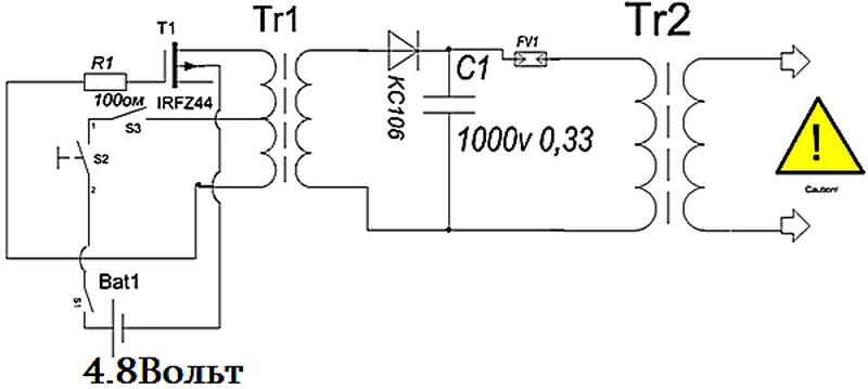 Электрошокер своими руками инструкция схема 14