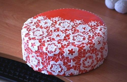 Как сделать на торт кружева