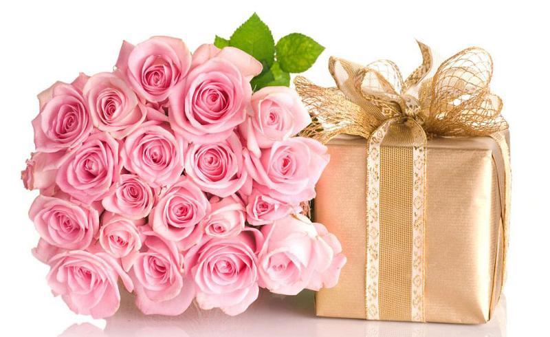 Открытка с букетом цветов ко дню рождения 354