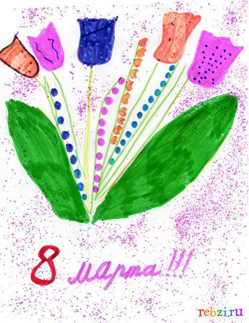 Рисунки на открытки маме