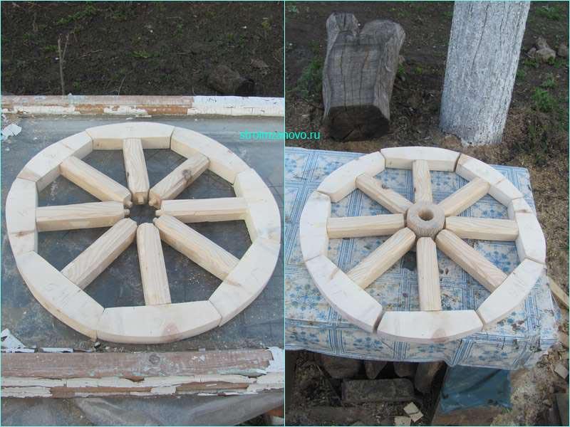 Как сделать деревянное колесо своими руками фото 38