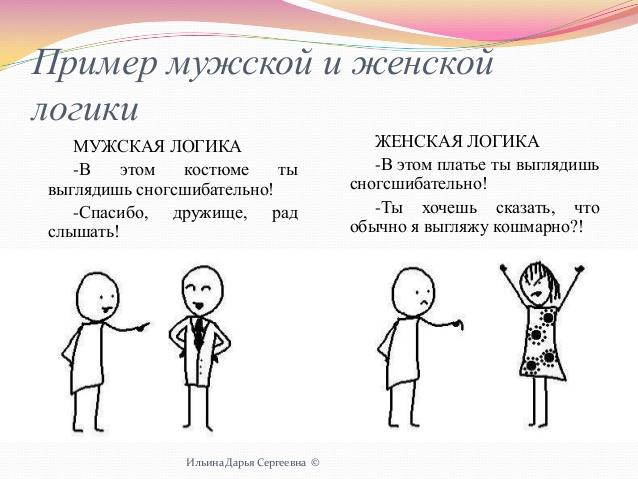 Анекдот: Чем отличается женская логика от мужской…