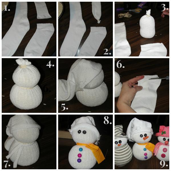 Поделки из носок своими руками снеговик