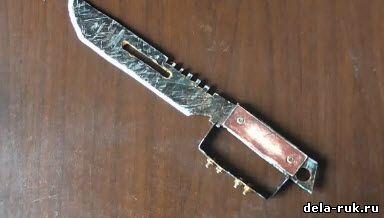 Как сделать нож из железа своими руками