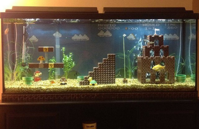 Сделать домик для рыбок